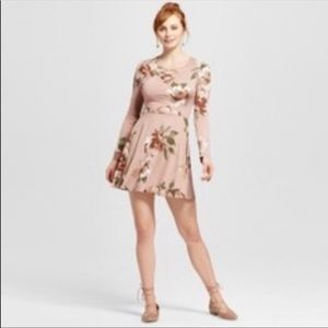 4/$25 Xhilaration Fit and Flare Floral Dress- XS